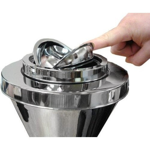 Sigara Contemporary Chrome Self Cleaning Floor Stand Ashtray