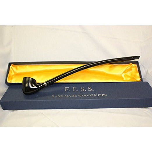 "F.e.s.s. Long Churchwarden Tobacco Pipe 14"" (Black Smooth), , FESSONLINE, FESSONLINE"