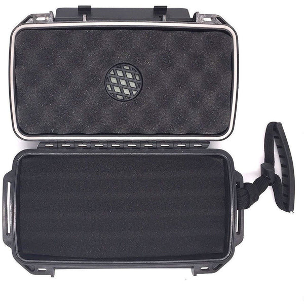 FESS F5 Black Travel Cigar Waterproof Humidor Case (Holds up to 5 Cigars), humidor, m4wholesale.com, FESSONLINE