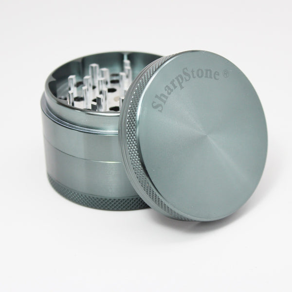 "SharpStone® Hard Top 4 Piece Grinder - 2.5"" Grey, , FESSONLINE, FESSONLINE"
