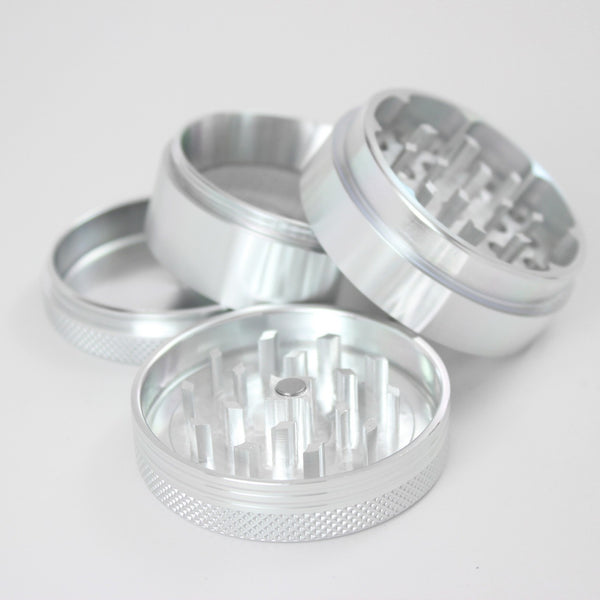 "SharpStone Hard Top 4 Piece Herb Grinder - 2.2"" (Medium) Silver, , FESSONLINE, FESSONLINE"