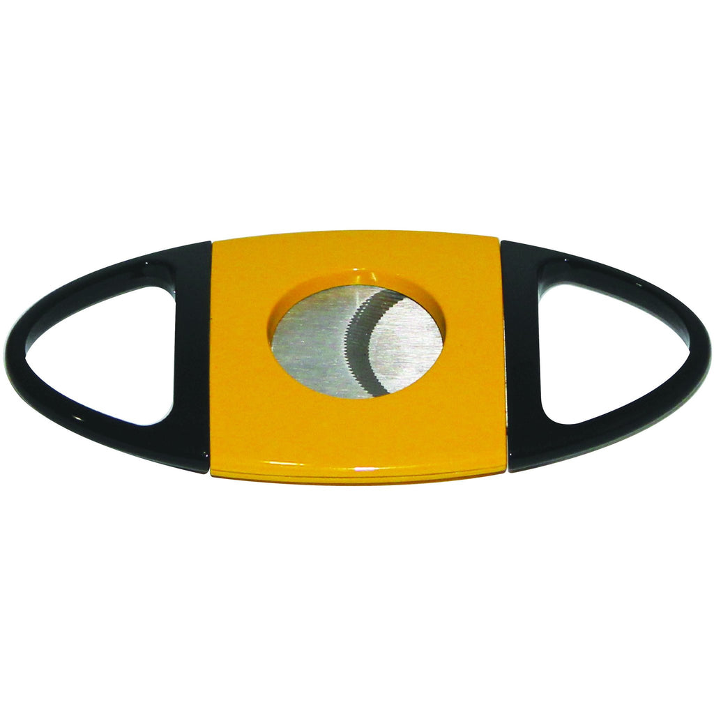 Stainless Steel Guillotine Style Cigar Cutter Serrated Blades - Yellow, , m4wholesale.com, FESSONLINE