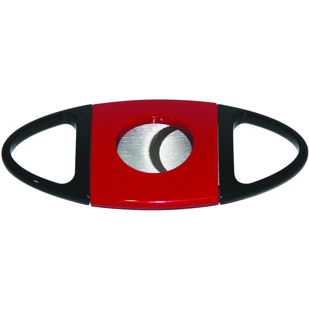 Stainless Steel Guillotine Style Cigar Cutter Serrated Blades - Red, , m4wholesale.com, FESSONLINE