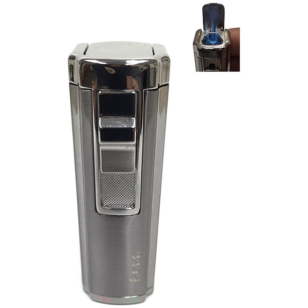 Fess Triple Jet Flame Butane Torch Cigarette Cigar Lighter With Punch Cutter Tool, , FESSONLINE, FESSONLINE