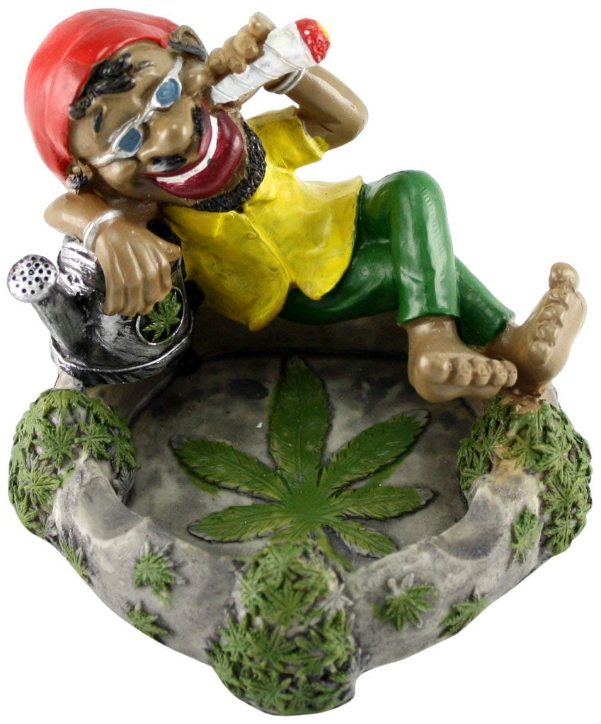 Fess Products Jamaican chilling Man with Glasses Holding Cigarette Ashtray, , FESSONLINE, FESSONLINE