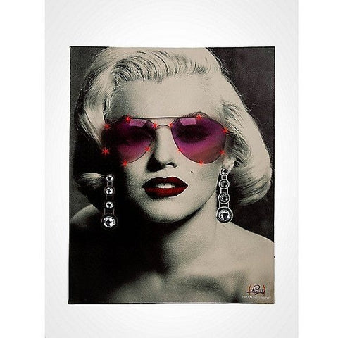 "Marilyn Monroe Glasses LED Light Canvas Wall Art Retro Decor (16""x20""), , FESSONLINE, FESSONLINE"