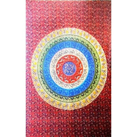 Hippie Indian Tapestry Scallop Circles Mandala Tapestry Throw Wall Hanging Bedspread