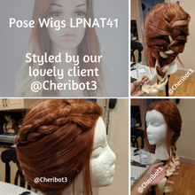 Red and White Blonde Ombre Long Wavy Lace Front Wig - Princess Series LPNAT41