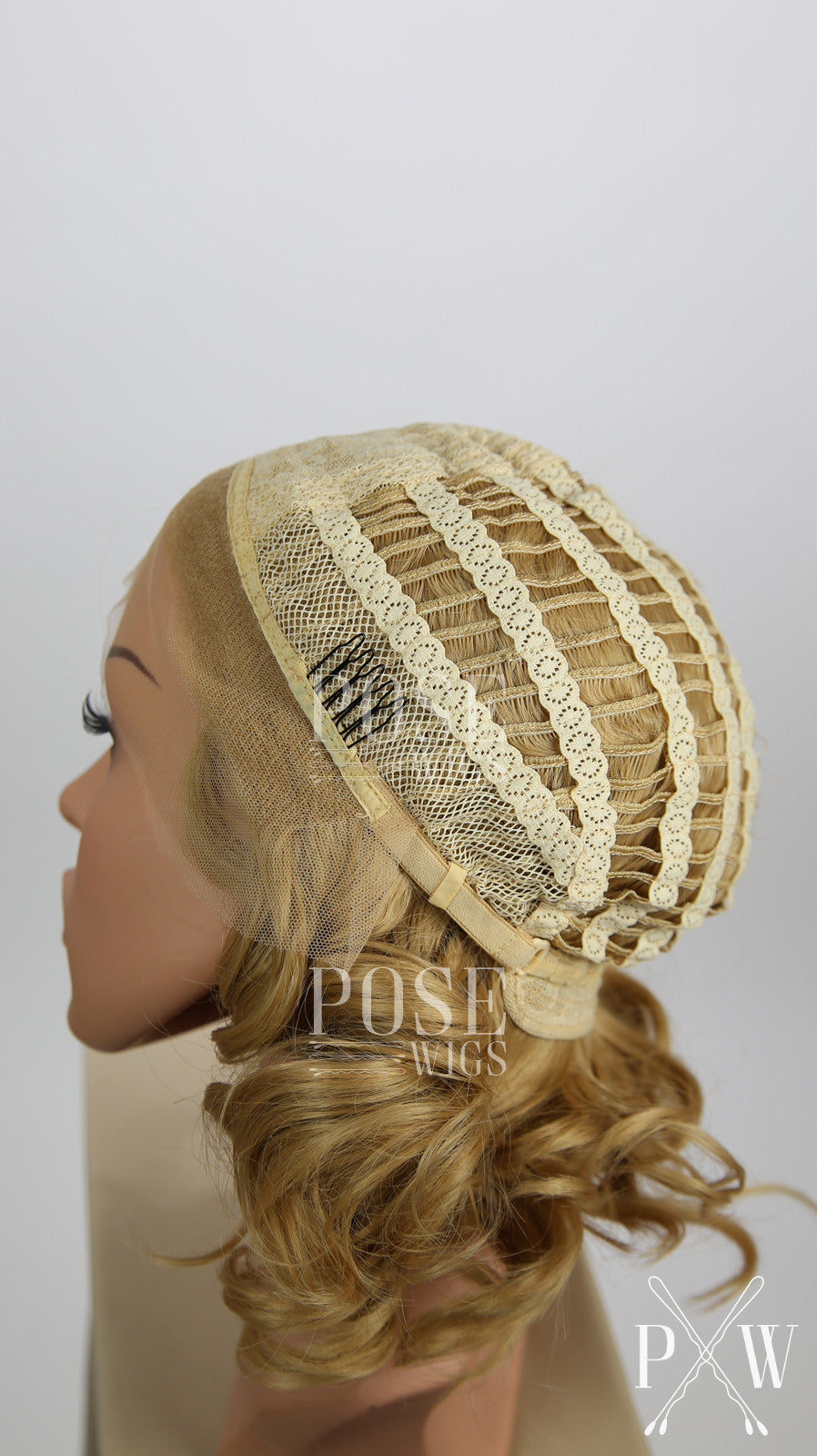White Blonde Custom Braided Long Wavy Lace Front Wig