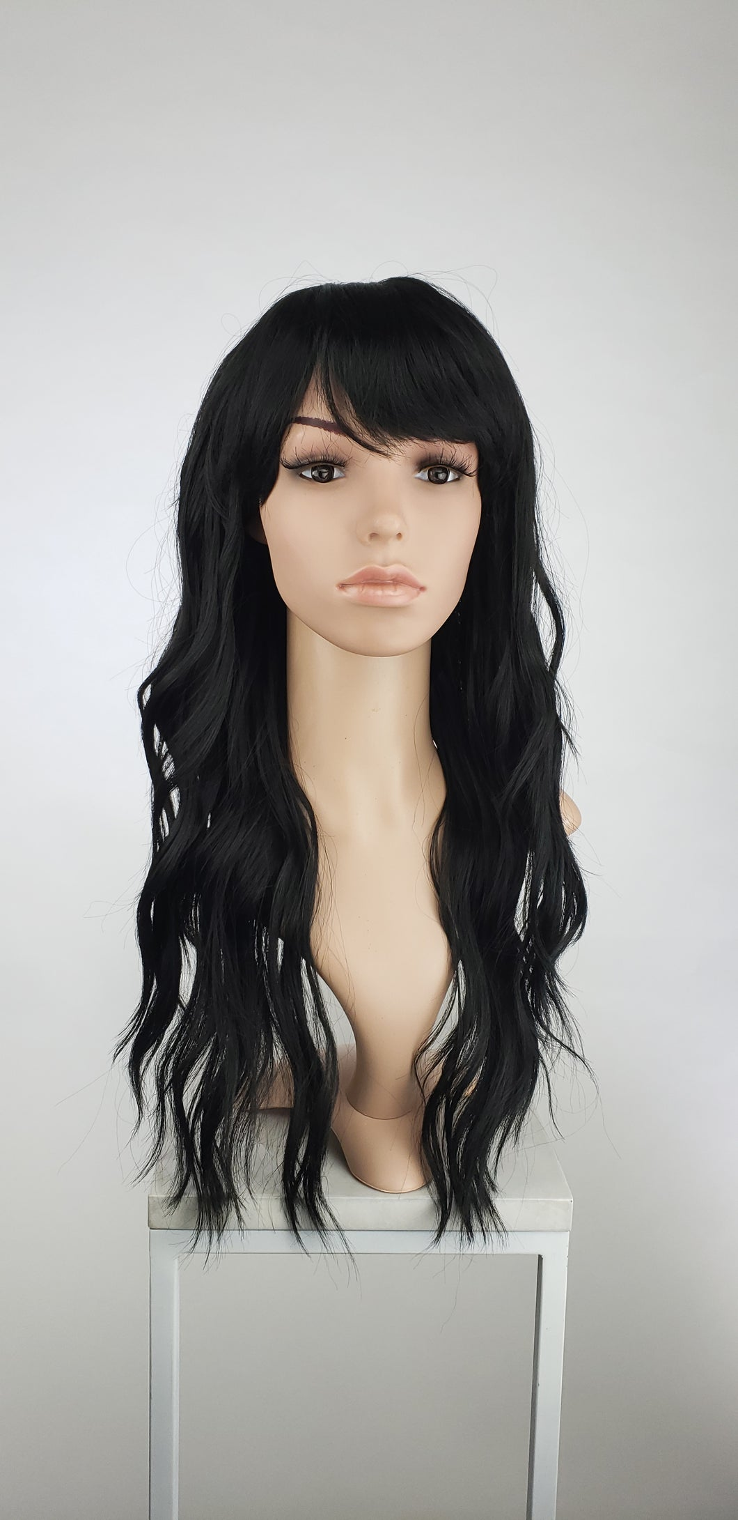 Black Long Wavy with Bangs Fashion Wig HSOPH1