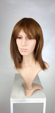 Mens Reddish Brown Medium Length with Bangs Fashion Wig HSMSS55