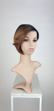 Reddish Brown Ombre Short Straight with Bangs Fashion Wig HSANA109