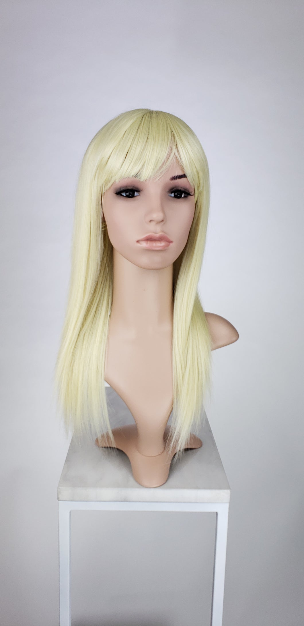 Blonde Long Straight with Bangs Fashion Wig HSHAL44