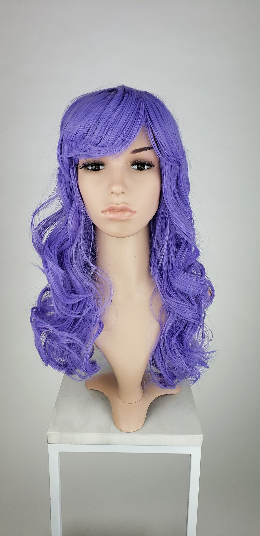 Purple Long Curly with Bangs Fashion Wig HSRAE295
