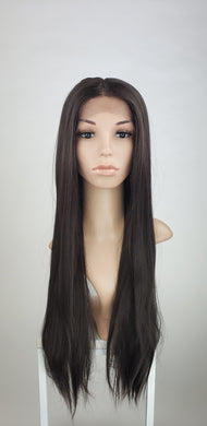 Pose Wigs Dark Brown Long Straight Lace Front Wig - Duchess Series LDDNA10