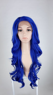 Pose Wigs Bright Blue Long Wavy Lace Front Wig - Duchess Series LDKIM148
