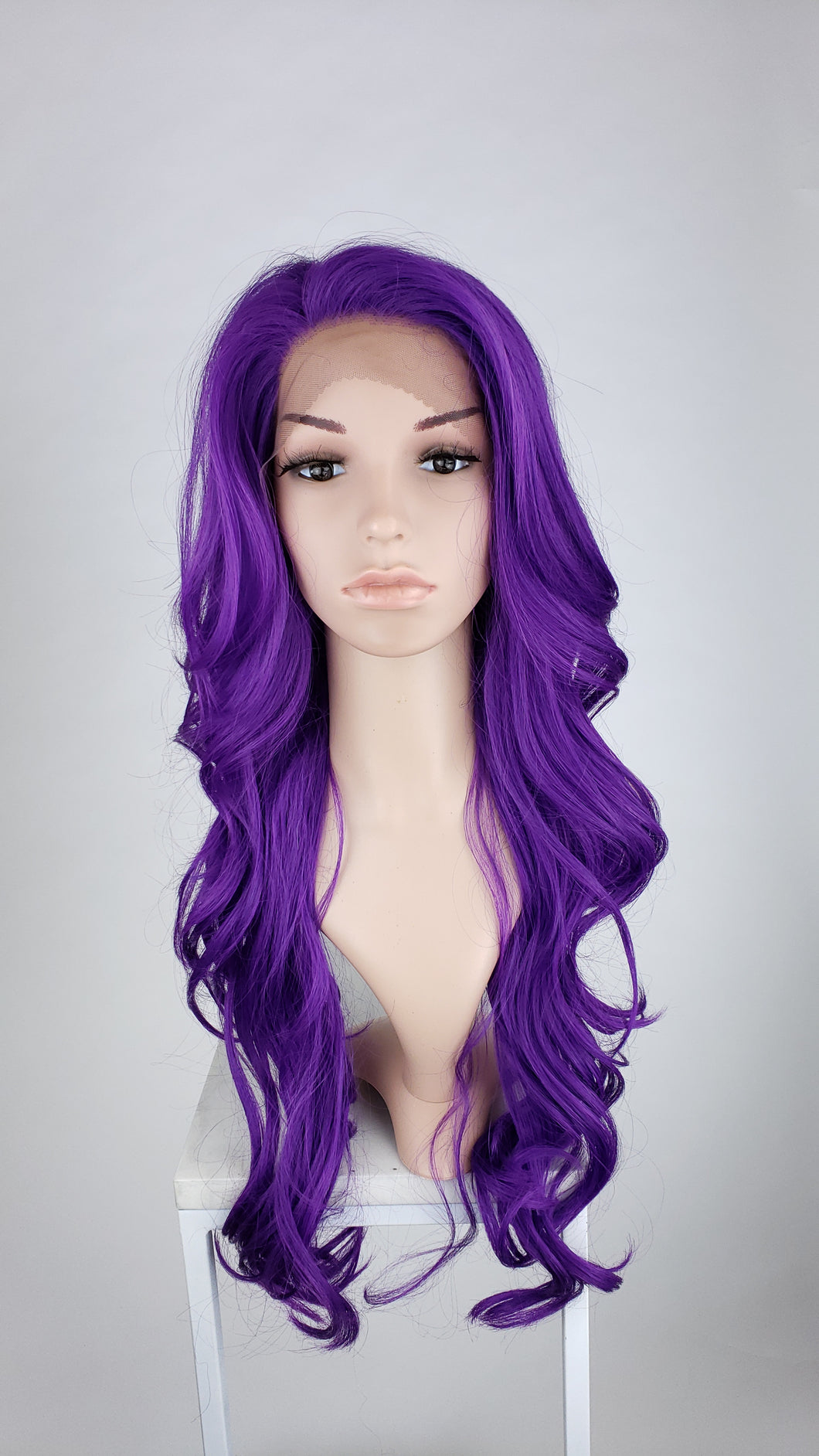 Pose Wigs Bright Purple Long Wavy Lace Front Wig - Duchess Series LDKIM165