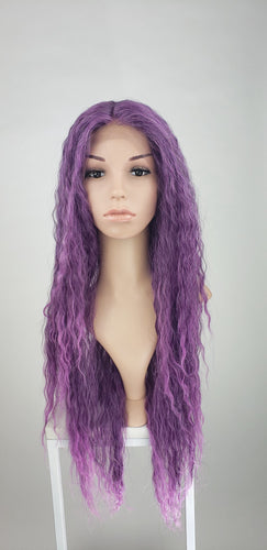Pose Wigs Purple Ombre Long Curly Lace Front Wig - Duchess Series LDRVN233