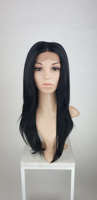 Black Long Straight Lace Front Wig - Duchess Series LDTAL1