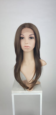 Brown Mix Long Straight Lace Front Wig - Duchess Series LDTAL18