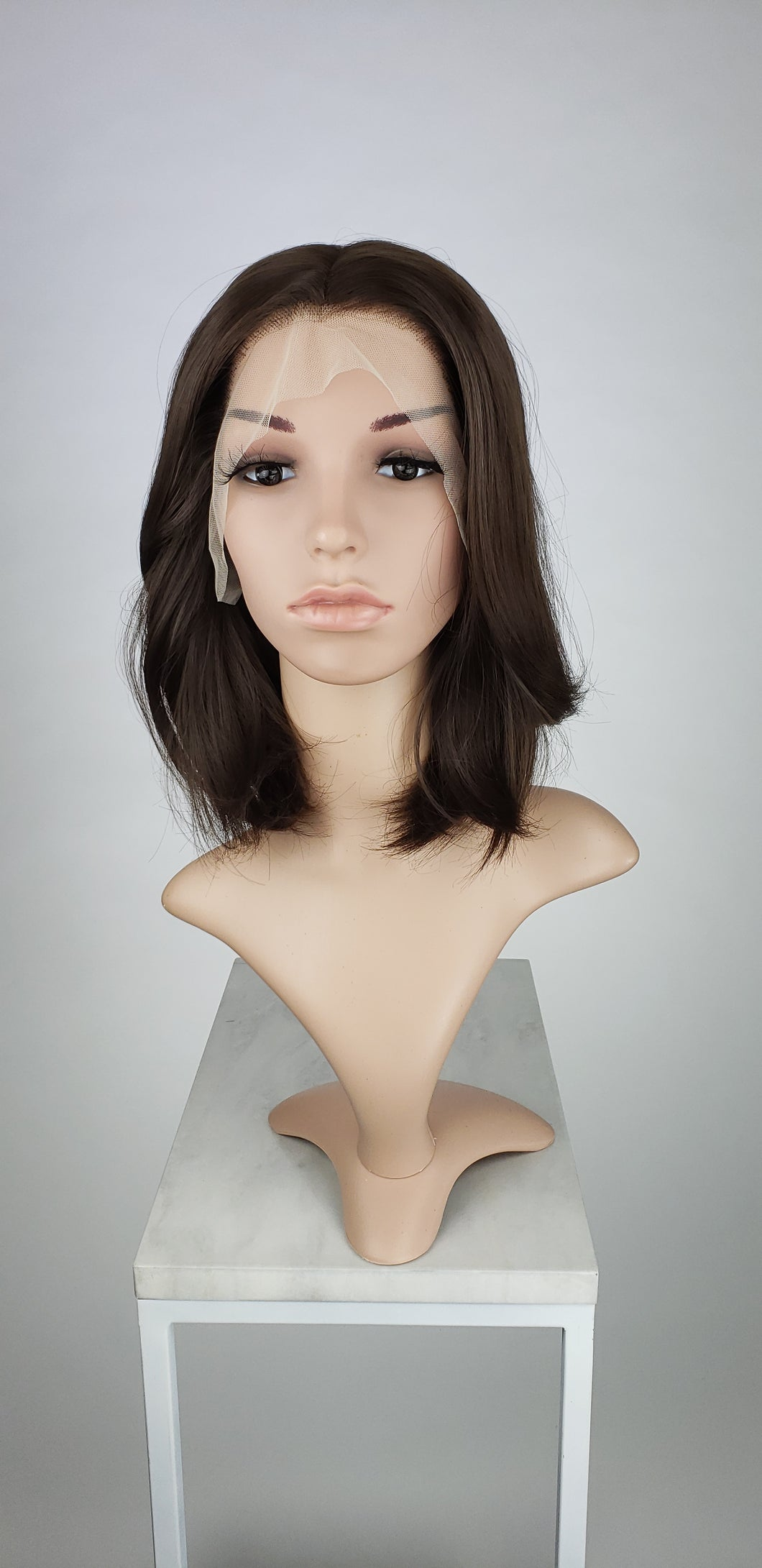 Brown Medium Length Straight Bob Lace Front Wig - Princess Series LPAJA61