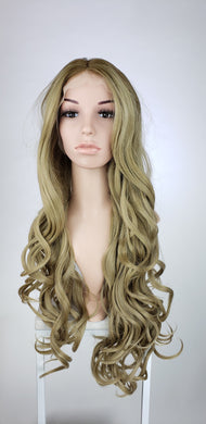 Light Ash Brown Ombre Long Curly Lace Front Wig - Princess Series LPAZA243
