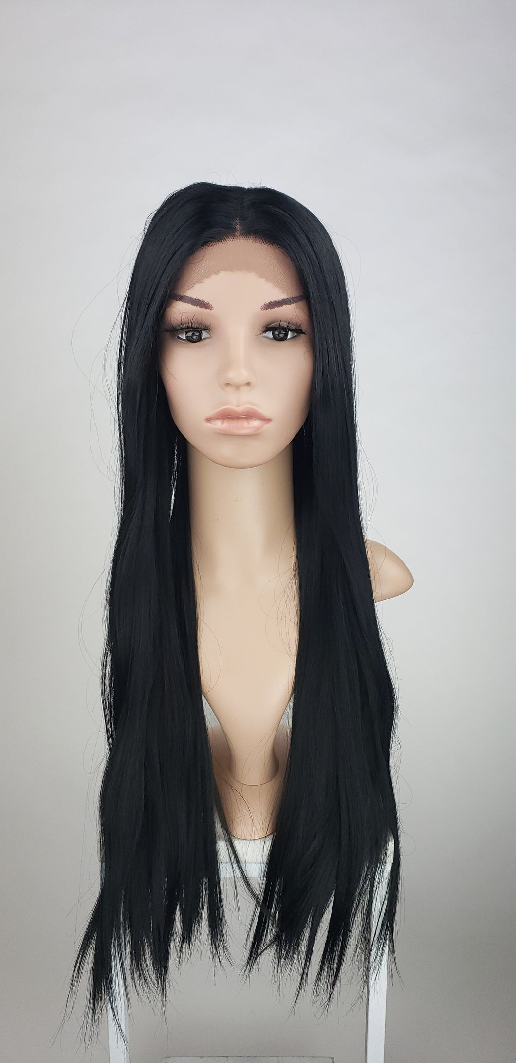 Pose Wigs Black Long Straight Lace Front Wig - Special Full Lace Top Princess Series LPBEL1