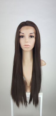 Pose Wigs Brown Long Straight Lace Front Wig - Special Full Lace Top Princess Series LPBEL21