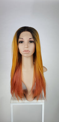 Sunset Ombre Long Straight Lace Front Wig - Princess Series LPJOY267 - Custom Dyed