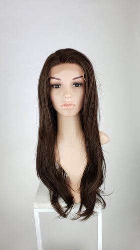 Pose Wigs Brown Long Straight Lace Front Wig - Special Full Lace Top Princess Series LPMAL21