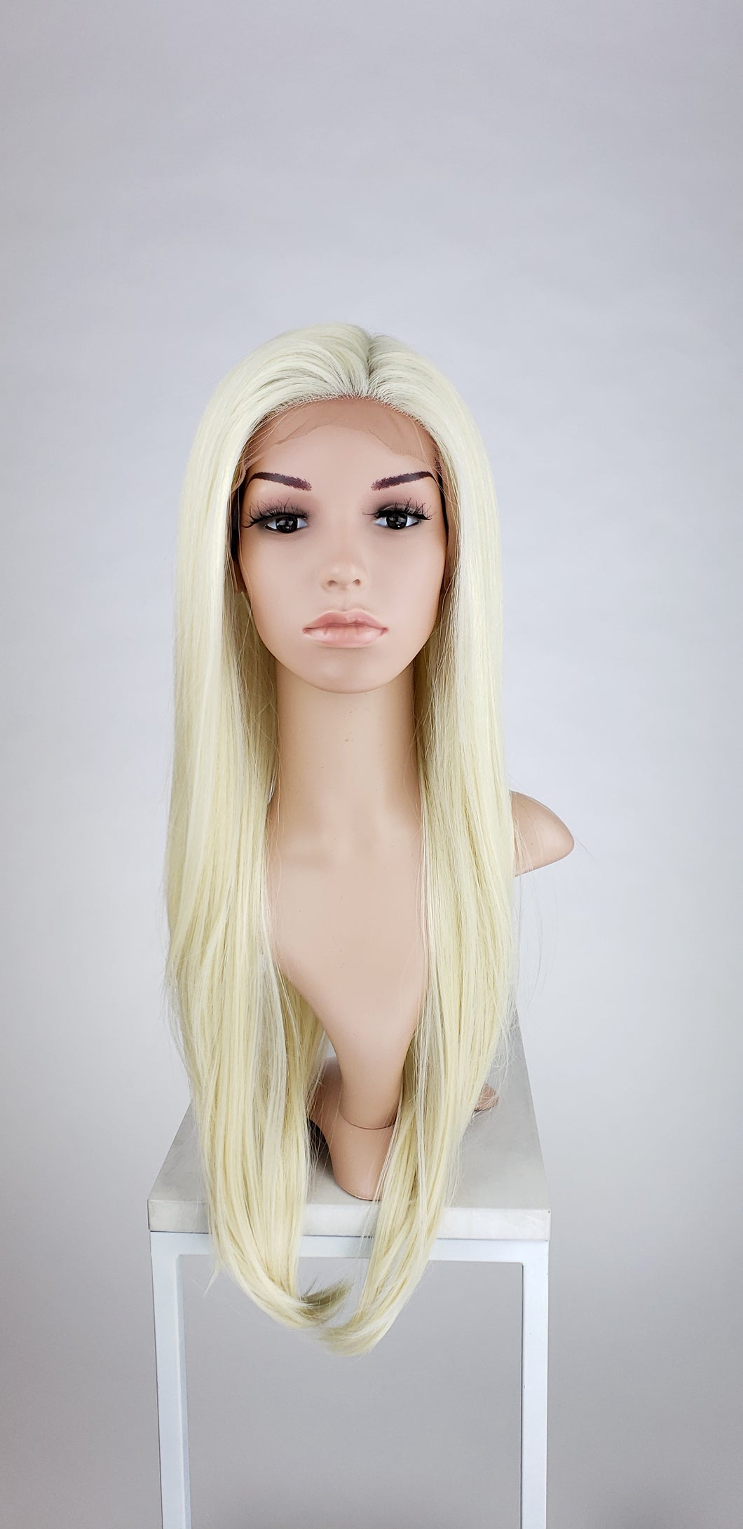 Pose Wigs Blonde Long Straight Lace Front Wig - Special Full Lace Top Princess Series LPMAL44