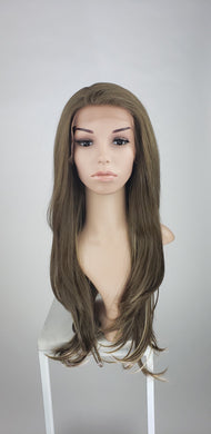 Pose Wigs Brown with Highlights Long Straight Lace Front Wig - Special Full Lace Top Princess Series LPMAL98
