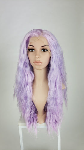 Pose Wigs Purple Mix Long Wavy Lace Front Wig - LPMAX114