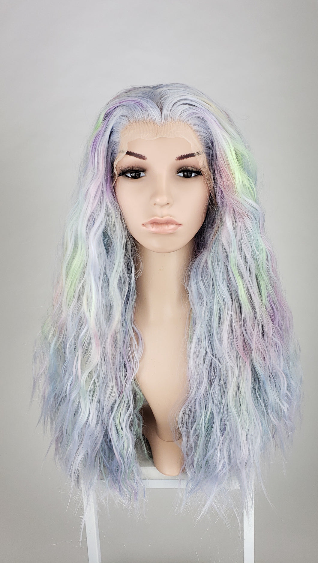 Pose Wigs Pastel Hologram Long Wavy Lace Front Wig Princess Series LPMAX116