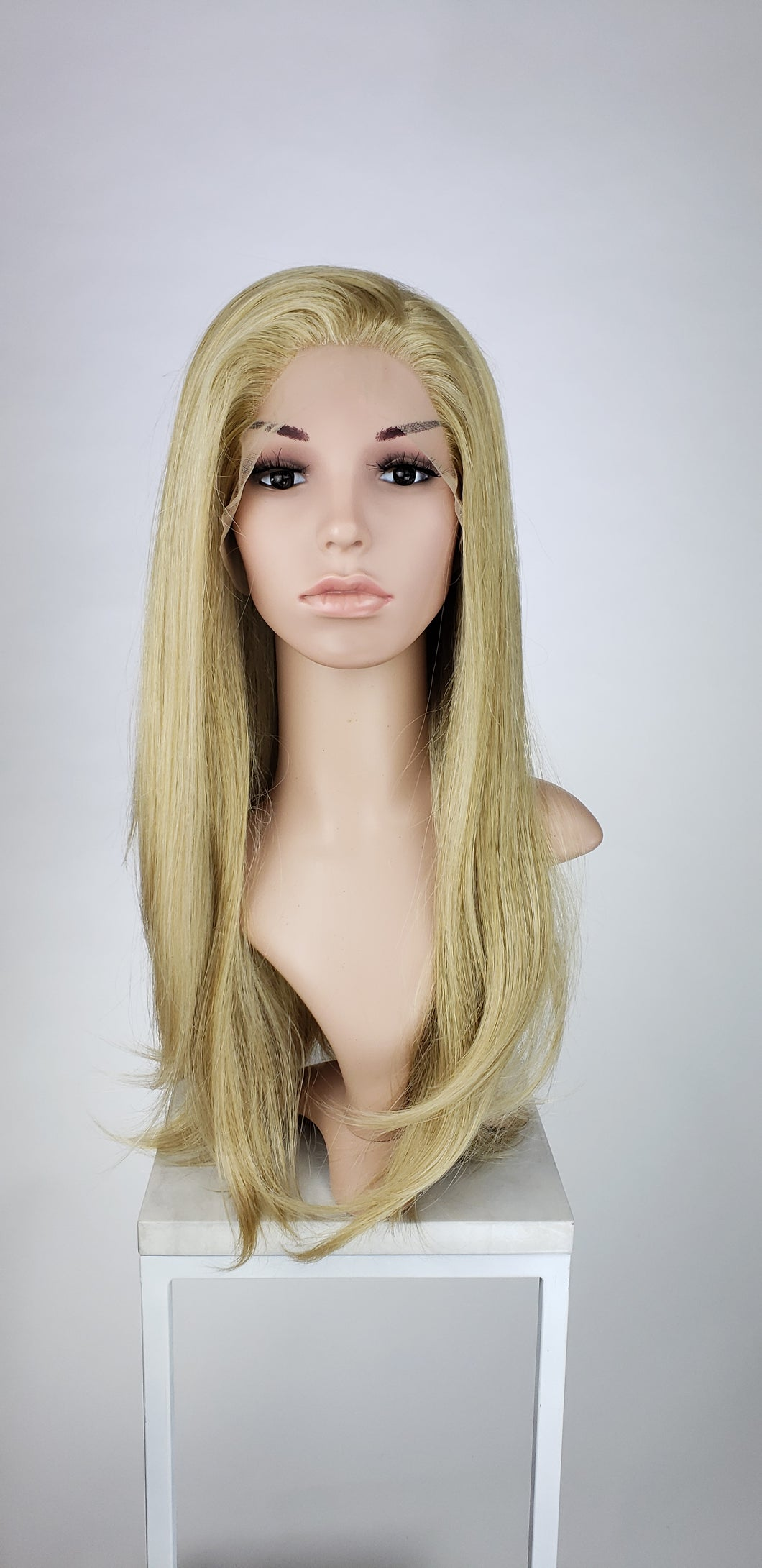 Blonde Mix Long Straight Lace Front Wig - Princess Series LPSKY122