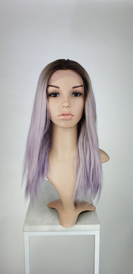 Pale Purple Ombre Medium Length Straight Lace Front Wig - Princess Series LPSUN257 - Custom Dyed