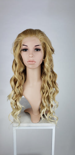 Strawberry Blonde Ombre Long Curly Lace Front Wig - Princess Series LPWYN91