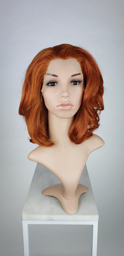Copper Red Medium Length Wavy Lace Front Wig - Princess Series LPZOE270