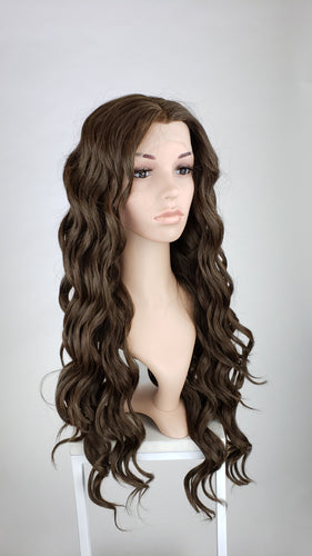Pose Wigs Dark Brown Long Curly Lace Front Wig - Queen Series LQMIA290