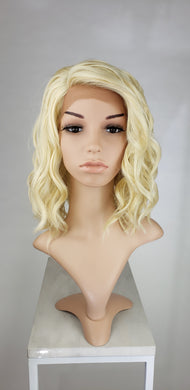 Blonde Medium Length Wavy Bob Lace Front Wig - Lady Series LLHAZ44