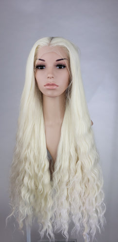 Pose Wigs Crystal Blonde Long Curly Lace Front Wig - Princess Series LPALU42