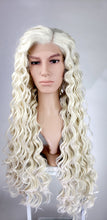Pose Wigs Mens White Blonde Long Curly Lace Front Wig - LPEVE17