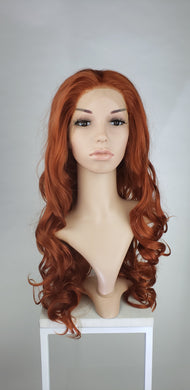 Red Long Curly Lace Front Wig - Princess Series LPMRA63