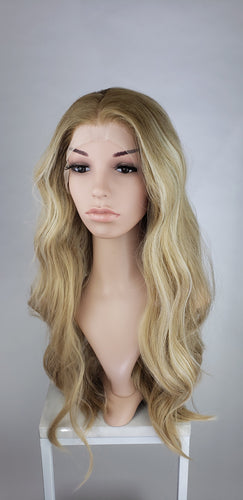 Blonde Balayage Ombre Long Wavy Lace Front Wig - Princess Series LPZEN78