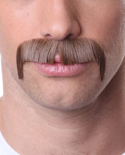 Brown Mustache 100% Human Hair on Lace Backing MUSTACHE931BROWN