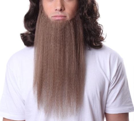 Pose Wigs Brown Beard 100% Human Hair on Lace Backing BEARD946Brown