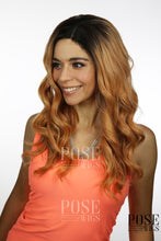 Balayage Peachy Pink Blonde Ombre Long Curly Lace Front Wig - Princess Series LP093