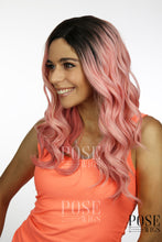 Balayage Rosy Pink Ombre Long Curly Lace Front Wig - Princess Series LP092