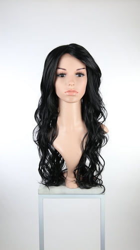 Black Long Wavy with Bangs Fashion Wig HSCAL1