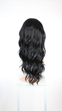 "Black Long Curly Hair with Bangs Fashion Wig - Large 23"" size - HSFAN1"